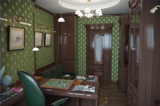 Ремонт кабинета фото