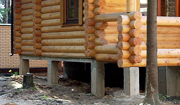 Фундаменты для деревянных домов своими руками фото