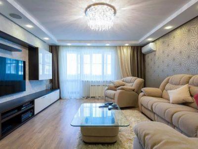 Ремонт гостиной от компании СВ Групп