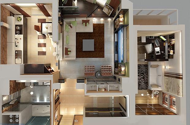 ПРЕМИУМ дизайн квартир от компании СВ групп