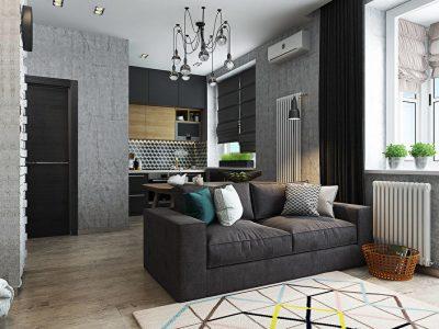 Дизайн однокомнатной квартиры и расстановка мебели