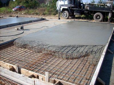 Фундамент-плита, изготовление