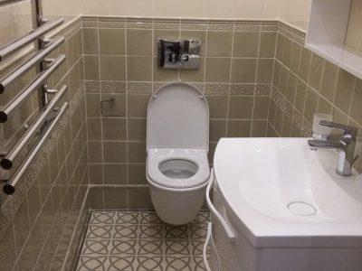 Ремонт туалета от компании СВ Групп
